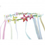 Exotic Hawaiian floral & ribbon headband