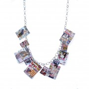 Magazine charm necklace