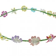 Mixed exotic flower headband