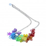 Mixed kitsch charm necklace