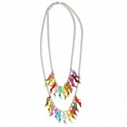 Colourful Two Tier shoe charm necklace