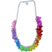 Rainbow fruit charm kitsch necklace