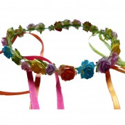 Colourful rose & ribbon headband