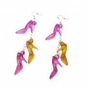 Colourful shoe charm earrings