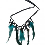 Cross & feather necklace