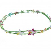 Double layer floral headband