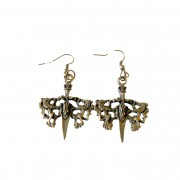 Antique sword earrings