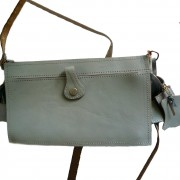 1950's grey satchel bag