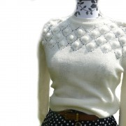 Vintage embelished bobble jumper