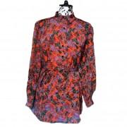 80's Geometrical print dress