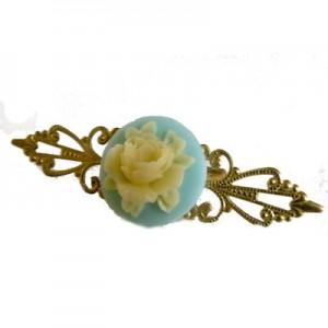 Mollie Fantasy Floral Pastel Blue Ring