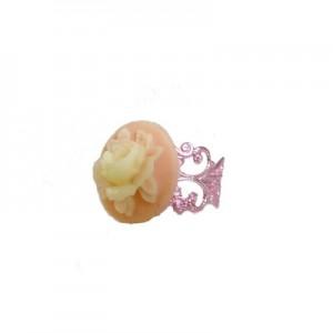 Paloma Floral cameo Pastel Pink ring