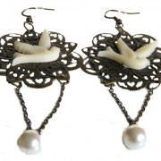 Kara Pearl dove Earrings