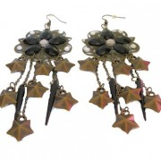 Eva Floral spike earrings