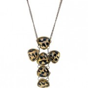 Haydon leopard cross necklace