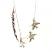 Kourtney silver eagle necklace