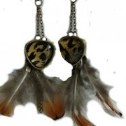 Ivka feather earrings