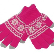 Fairisle smart phone gloves