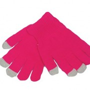 Pink smart phone gloves