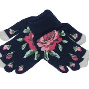 Rose smart phone gloves