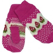 Marzia Pink mittens
