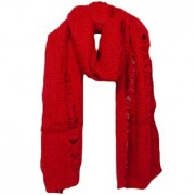 Red Oversized knit scarf