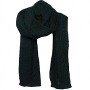 Black Oversized knit scarf