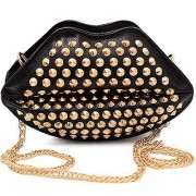 Lulu Black lips bag