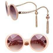 Pink chain sunglasses