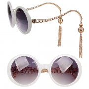 White chain sunglasses