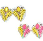 Neon Statement Earrings